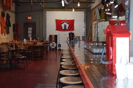 Inside of Maltese Brewing Company