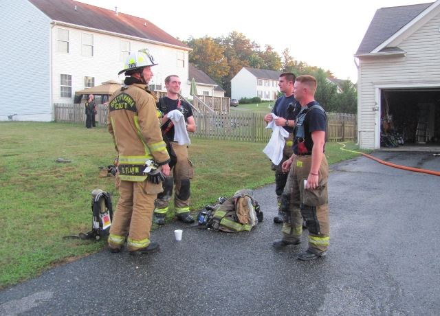 Firefighters in a Group